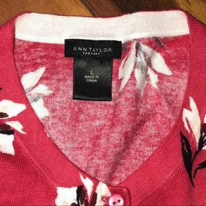 Ann Taylor Sweaters - Ann Taylor Floral Cardigan